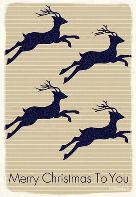 ちょっと意外性のある「大人のクリスマスカード」