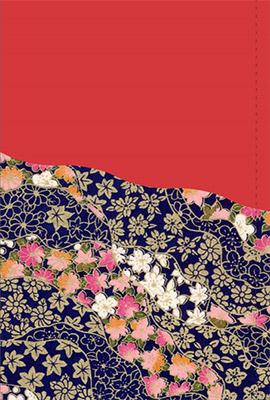 鮮やかな着物柄が和風美を醸しださすクリスマスカード