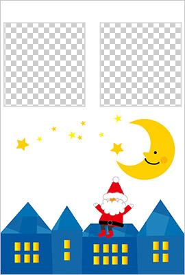 プリントわんぱぐのクリスマスカード
