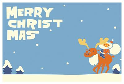 ちょっとした気遣いには名刺サイズのクリスマスカード