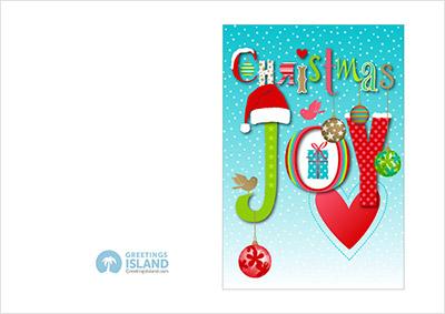 本場のクリスマスカードは一味違う?