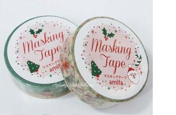 シールやマスキングテープで飾ったカード
